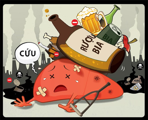 Rượu bia hủy hoại gan như thế nào-1