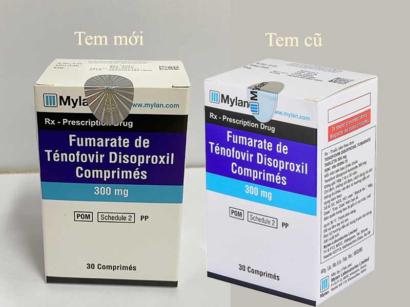 Thông báo dán tem MYLAN mới trên hộp thuốc TENOFOVIR